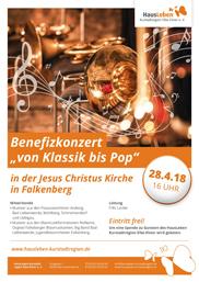 """Benefizkonzert """"von Klassik bis Pop"""""""